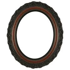 antique wood picture frames. Venice Oval Frame # 454 - Vintage Walnut Antique Wood Picture Frames