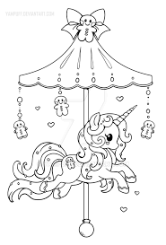 Holiday Carousel Pony Gingerbread Pony Lineart By Yampuff