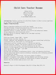 child care teacher resume sample   resume samplechild care teacher resume sample