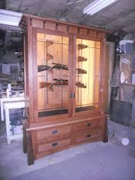 Decorative Display Cases Hand Made Horizontal Display Civil War Gun Cabinet By Komala