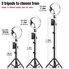 Big Ring Light With Stand 10inch Circle Ring Light With Tripod Stand Big Phone Clip For Ipad Professional Camera Photo Lighting For Makeup Youtube Video