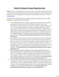 critical essay example resume film movie essays examples of   what is a critical essay example 6 how to write literary criticism carpinteria rural friedrich best