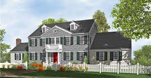 Colonial Two Story Home Plans for Sale   Original Home PlansElegant Hartcourt Colonial Home Plan for Sale