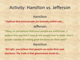Jefferson Vs Hamilton Venn Diagram Political Developments In The Early Republic Ppt Download