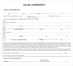 Car Selling Contract Template Sale Document A Receipt