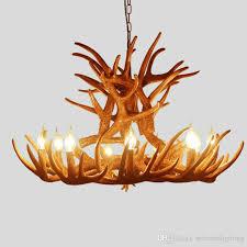 vintage antler pendant lamp e14 candle bulb retro resin deer horn pendant lights decoration light 6 heads 9 heads blue pendant lights retro pendant