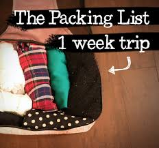 Packing Lists TRAVEL TIPS: Packing List for a 1-Week Trip - From Head To Toe