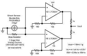 figure 10 non inverting charge amplifier offers several advantages stages can be paralleled for lower voltage noise bias resistor works into higher