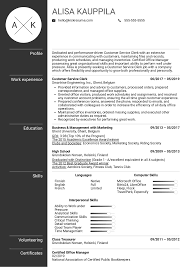 Resume Examples By Real People Customer Service Clerk Resume Sample