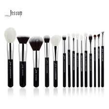 jessup brand black silver professional makeup brushes set beauty tools make up brush kit foundation powder definer shader liner