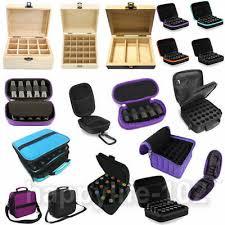 3-72 <b>Slots</b> Wooden Box <b>Oil</b> Aroma Storage Case <b>Essential</b> ...