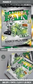 17 best images about poster design rap concert make it rain party flyer
