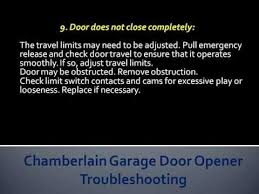 chamberlain garage door troubleshootingChamberlain Garage Door Opener Troubleshooting  How To