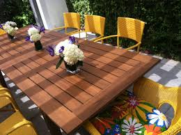 outdoor wood dining table. 12 Inspiration Gallery From Amazing Homemade Outdoor Furniture Wood Dining Table O