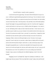 beowulf narrative essay by purvi issuu
