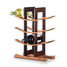 bamboo wine rack.  Bamboo Anchor Home Collection 98617 Bamboo Wine Rack With Espresso Finish Natural For I