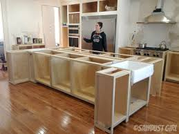 Brilliant Build Own Kitchen Island Awesome Your In Diy With Seating