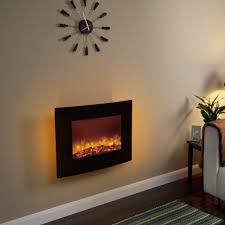 wall mount fireplace black