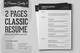 Page Resume Resumes Two Format Doc Example Header Professional