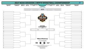 March Madness Printable Ncaa Tournament Bracket March Madness