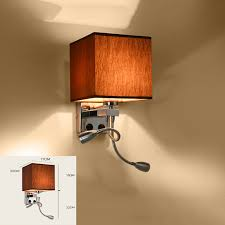 adjustable modern brief bedside wall lamps 1w led reading light lamp bed hose rocker arm lighting fabric lampshadein wall lamps from lights78