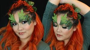 poison ivy hair makeup costume look for