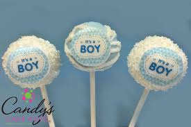 Its A Boy Edible Decal Cake Pops Baby Shower Candys Cake Pops