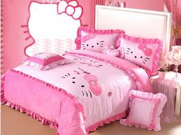 Bedroom: Hello Kitty Bedroom Set New Popular Hello Kitty Queen Forter Set  Cheap Hello Kitty