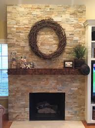 Captivating Modern Stacked Stone Fireplace Photo Design Ideas ...