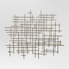 on mid century wall art metal with project 62 mid century gold metal grid wall decor