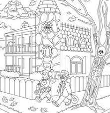 Small Picture Hidden Picture Coloring Page Witchs Brew Halloween