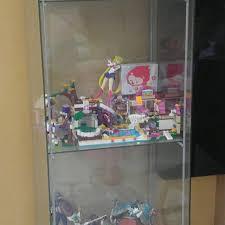 ikea detolf glass door cabinet furniture shelves drawers on carou