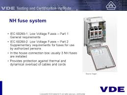 electrical installation in the field of low voltage reference nh fuse system iec 60269 1 low voltage fuses part 1 general requirements