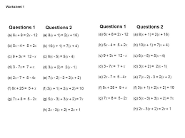 worksheet works mixed equations answers kidz activities