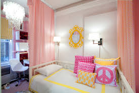Suzie Lily Z Design Lovely girls bedroom with pink walls pink