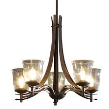 new allen roth olde bronze 5 light chandelier wclear glass shade fast shipping allen and roth chandelier o60