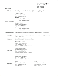 Blank Resume Form Most Professional Resume Template Free Resume