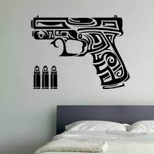 tribal tatoo vinyl wall art zoom