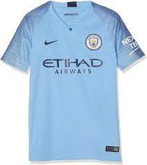 Amazon.com : Nike 2018-2019 Man City Home Football Soccer T-Shirt Jersey ( Kids) : Clothing