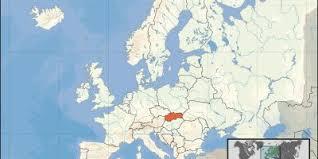 Slovakiens huvudstad heter bratislava och ligger ca 65 km från wien. Slovakien Map Kartor Slovakien Ostra Europa Europa