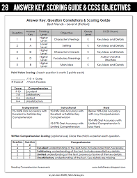 F And P Instructional Level Chart Reading Levels On