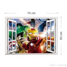 Lego Wallpaper For Bedroom Walls 3d Window View The Lego Avengers Wall Art Decal Sticker Kids Boys