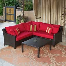 patio couch set. Patio Furniture And. Additional FeaturesBeautiful And Striking Crimson CushionsIncludes . Couch Set