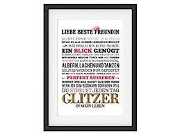 Interluxe Kunstdruck Liebe Beste Freundin Spruch Frau Geschenk