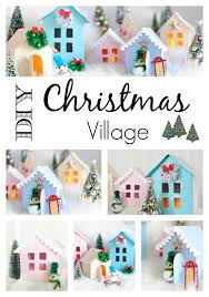 Christmas House Template Christmas Village Free Printable To Make Your Own Town