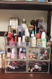 dorm makeup storage