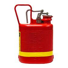 1 gallon gas can. justrite 1 gallon oval non-metallic red safety gas can
