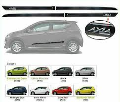 perodua axia side door moulding body lining all colors available