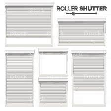 Weiße Rolle Fensterläden Vektor Fenster Tür Garage Speicherrollläden