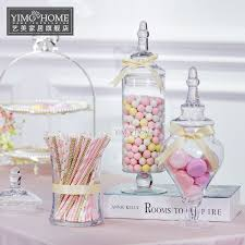 Decorative Glass Candy Jars 100 SET transparent lid storage bottle glass candy jars Wedding 87